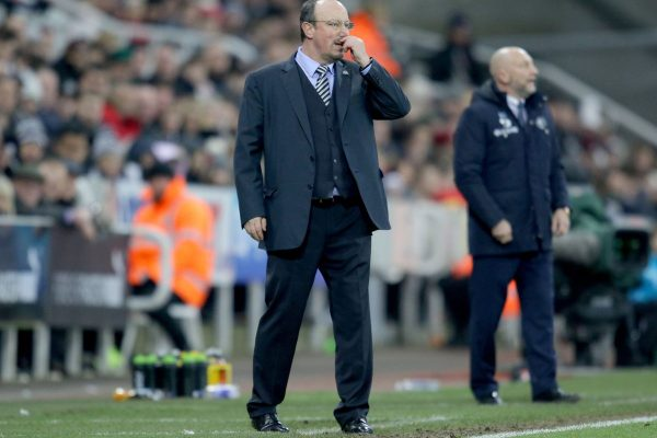 Benitez angered after his players were eliminated in the Carabao Cup.